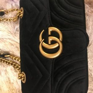 Gucci velvet bag